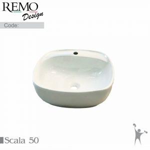 کاسه-روشویی-رو سنگی-رو-کابینتی-با-جای-شیر-رمو-دیزاین-مدل-اسکالا-50-Scala-50-Product